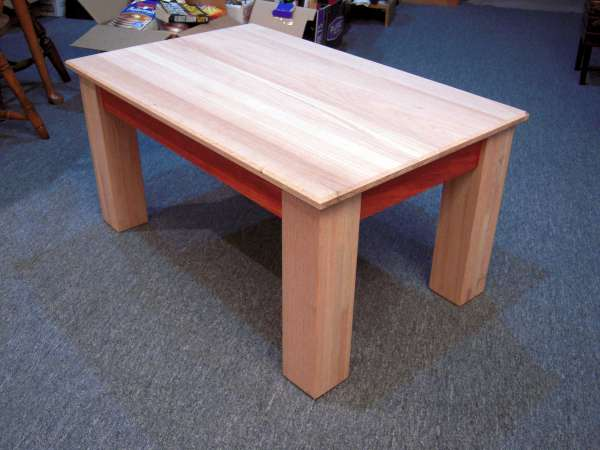 Coffee Table Red Oak Padauk Build Complete By Mosquito - Red oak table top