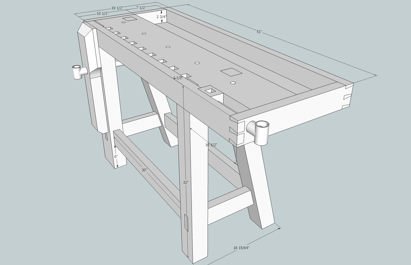 Fine Work Bench Build 2 More Plans Top Slab And Starting Legs Pabps2019 Chair Design Images Pabps2019Com